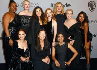 Toutes les stars en noir lors de la cérémonie des Golden Globes 2018